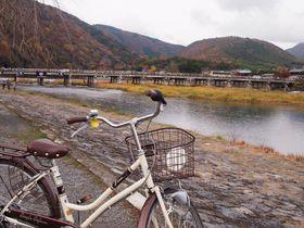 秋の京都・嵐山、嵯峨野サイクリング