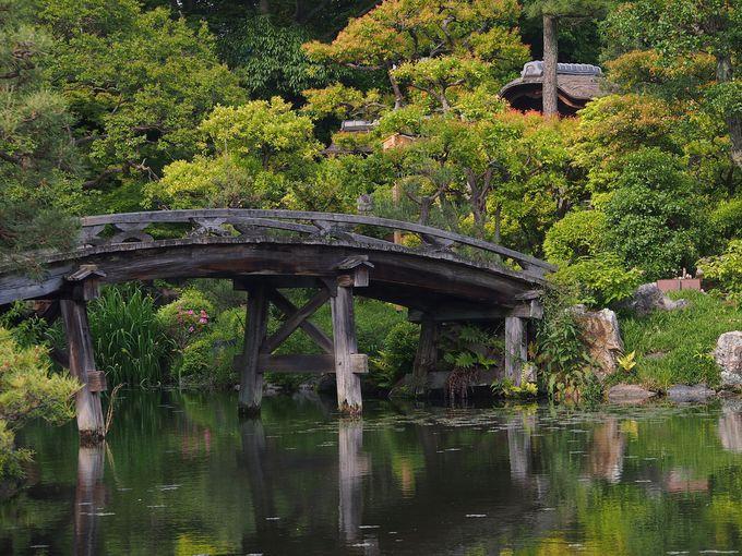 「十三景の六」池にかかる侵雪橋