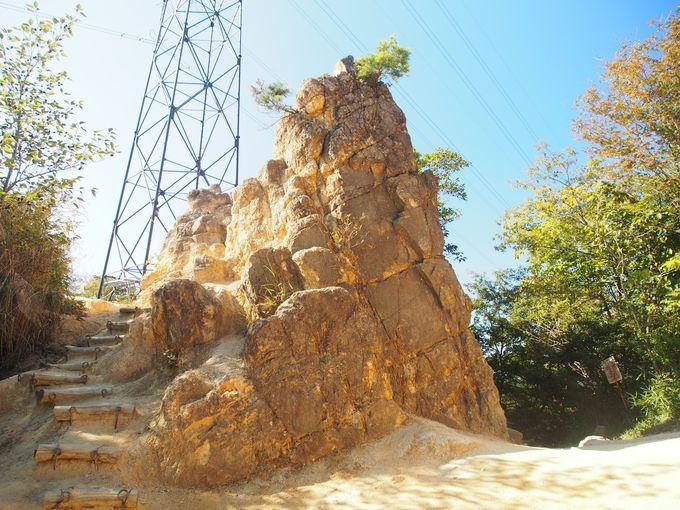 ロックガーデンの有名ポイント!風吹岩