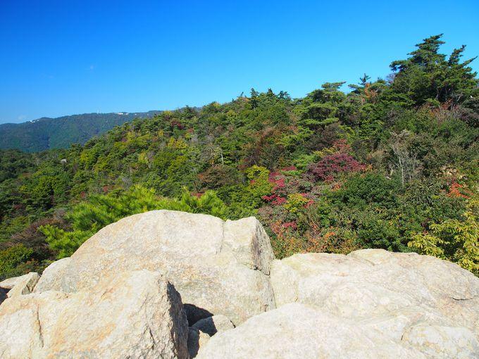 風吹岩のてっぺんから見渡す六甲の山々!