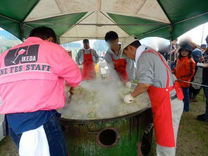 「鮭のちゃんちゃん焼き」コーナー