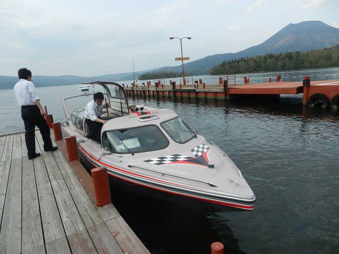 モーターボートで「阿寒湖」巡り