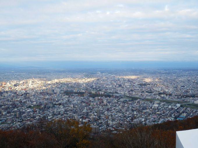 「藻岩山」山頂展望台からの景観