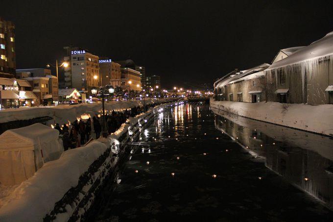 天の川を思わせる「小樽運河」