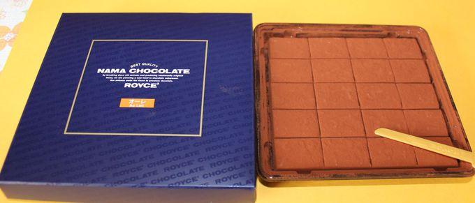 新千歳空港で製造されている・ロイズの生チョコレート