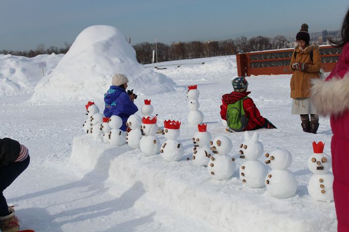 ミニ雪だるま作りを体験しよう!