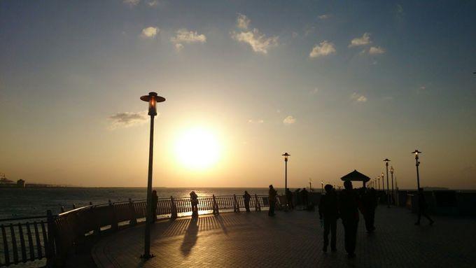 「淡水漁人碼頭」から見る夕日