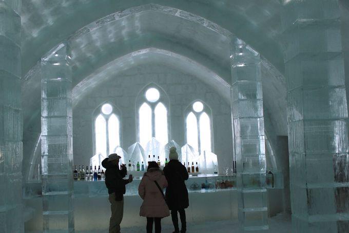 時間毎に氷の色が変化するアイスバー