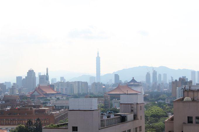 客室の窓からあの「台北101」が見渡せます