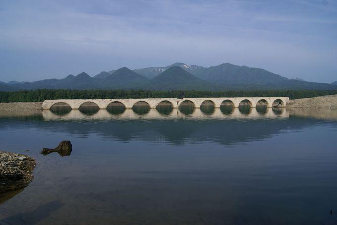 水位によっては、メガネ橋