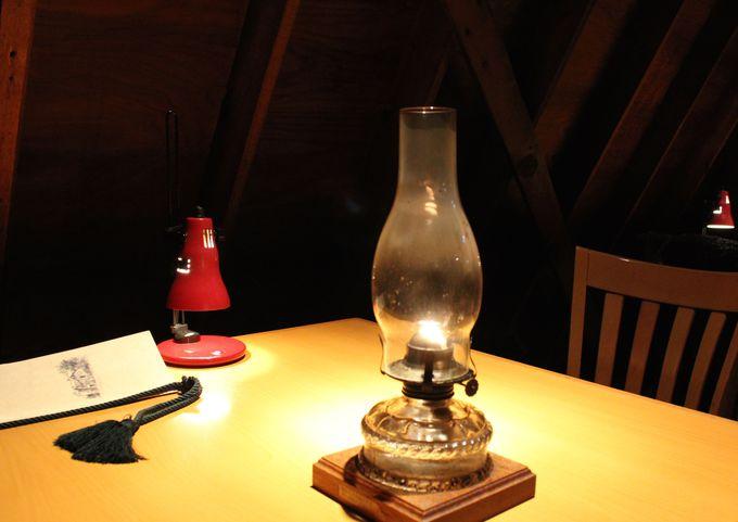 オイルランプが優しく灯ります