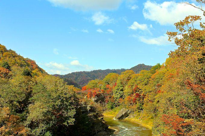 千鳥橋から「竜仙峡」と「滝の吊り橋」も鑑賞