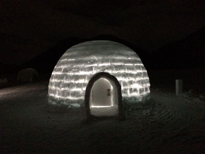 期間限定アイスロッジで宿泊体験も!