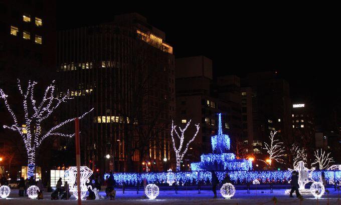 初冬のイベント「さっぽろホワイトイルミネーション」