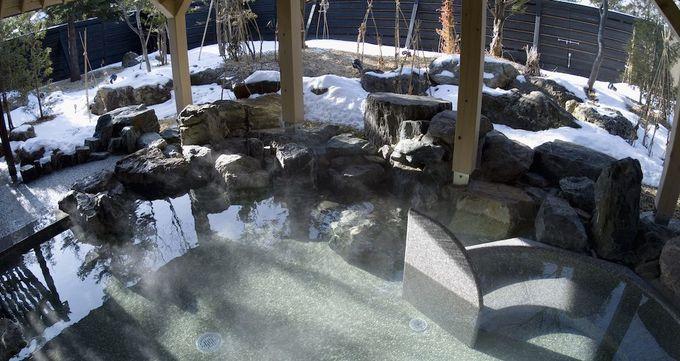 冬の美人の湯、露天風呂に入ろう!