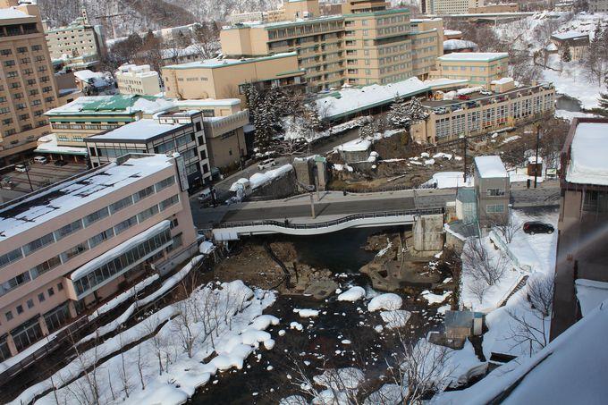 全客室が豊平川渓流ビューのお宿です。
