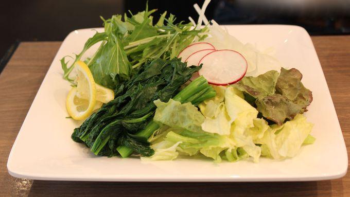 「滝川産菜花のグリーンサラダ」も頂こう!