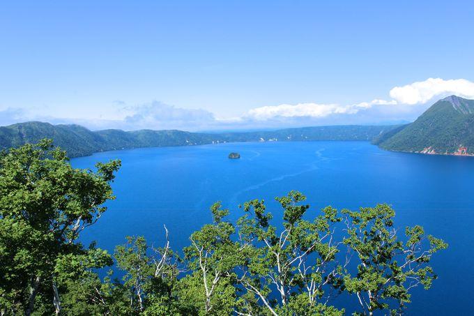 カムイシュ島と湖面を一望「第一展望台」!