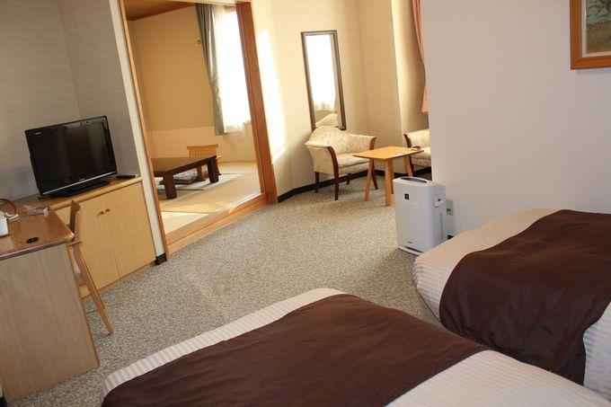「観月苑」和洋室の露天風呂付き客室で住む様に滞在!