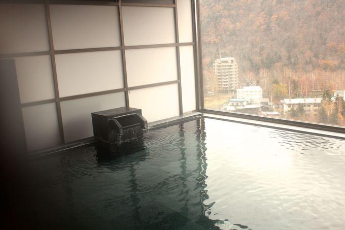 地上16階の温泉「星天」から定山渓の景色を眺めよう!