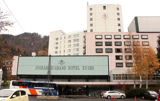 渓谷を望むロケーション「定山渓グランドホテル瑞苑」