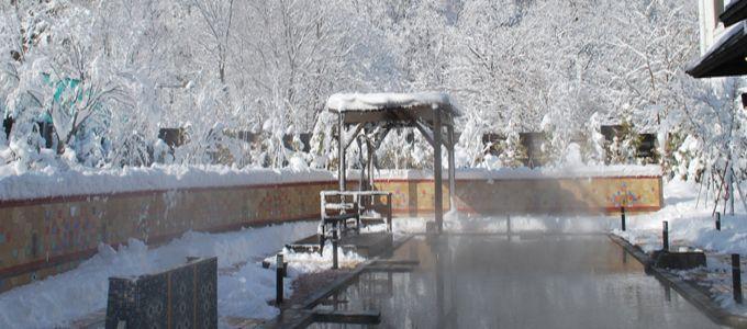 定山渓で最大級の大露天風呂!