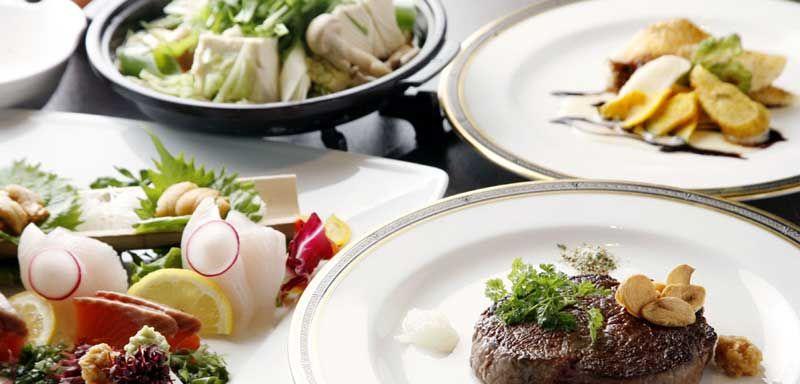 「ホテル甘露の森」ハーフビュッフェの夕食!