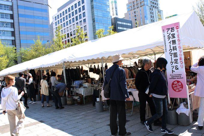 インターナショナルフードコートと市民の手作りマーケット!