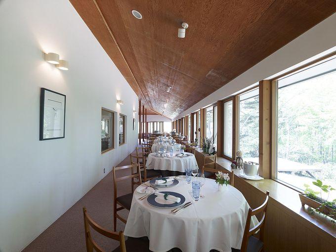 緑に囲まれた木の温もりを感じるレストラン「マッカリーナ」