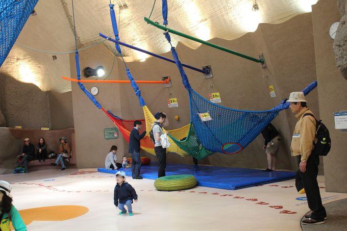雨の日でも遊べる「虹の巣ドーム」