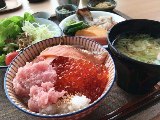 朝からイクラやサーモン?感激の海鮮丼