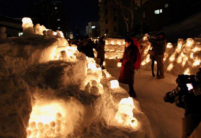 手創りのあかりが温かい!「小樽雪あかりの路」