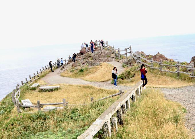 神威岬の最先端まで行ってみよう!