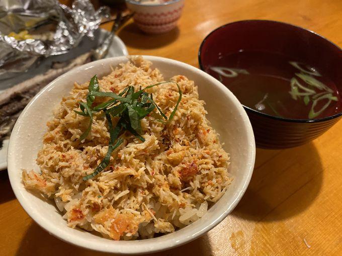 絶品!花咲蟹の夕食