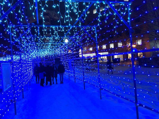 「日本新三大夜景」がテーマの光のトンネル