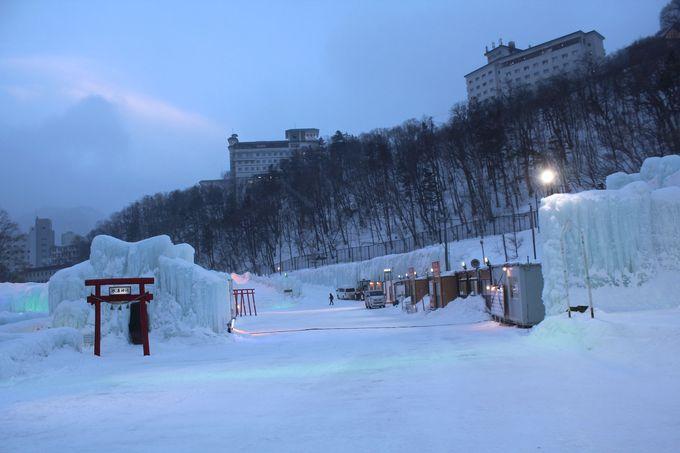 氷瀑まつり名物!金運・恋愛運・受験にご利益「氷瀑神社」