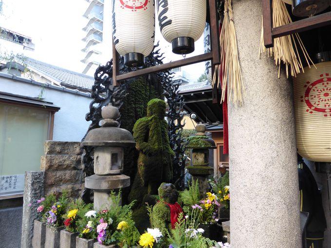 水掛不動で有名な法善寺