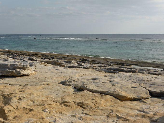 沖永良部島らしい海岸「ビーチロック」
