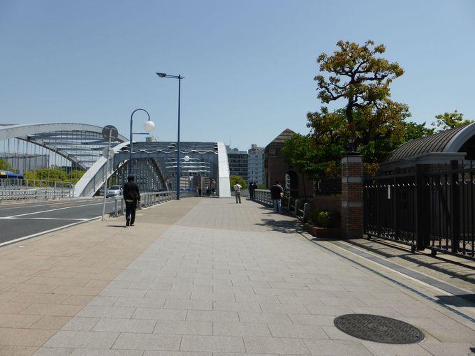 毛馬桜之宮公園からの目印は「銀橋」
