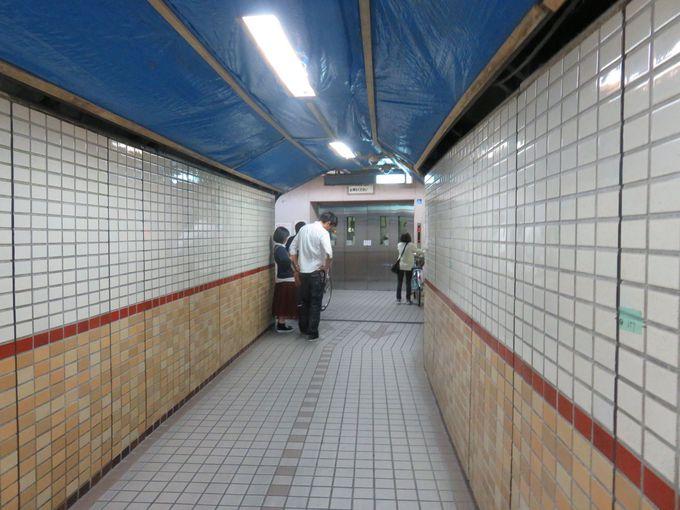 「安治川隧道」夏涼しく冬暖かく