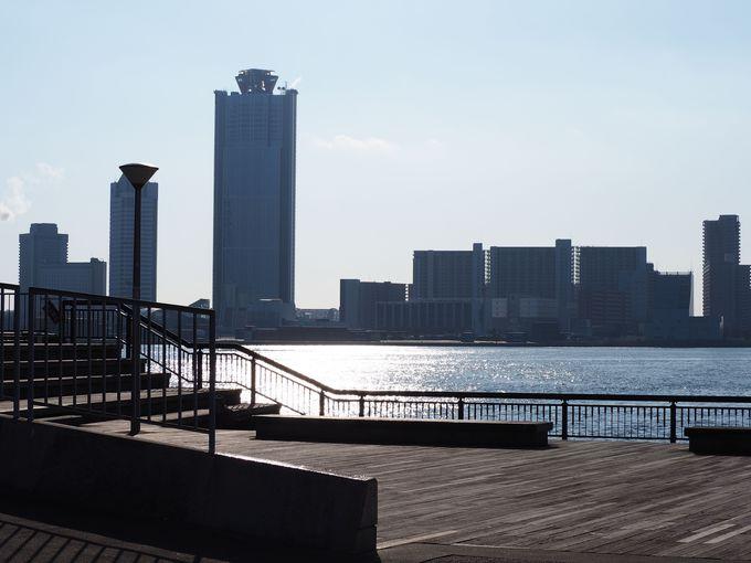 海遊館からも徒歩約5分「中央突堤」