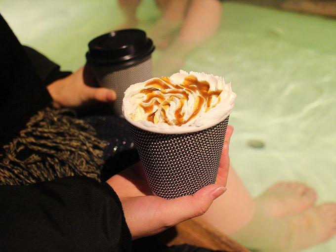 湯畑の隠れ足湯カフェ