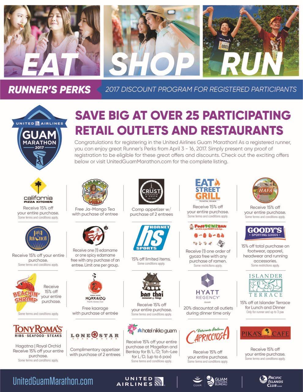 「Eat.Shop.Run」でグアムを楽しもう