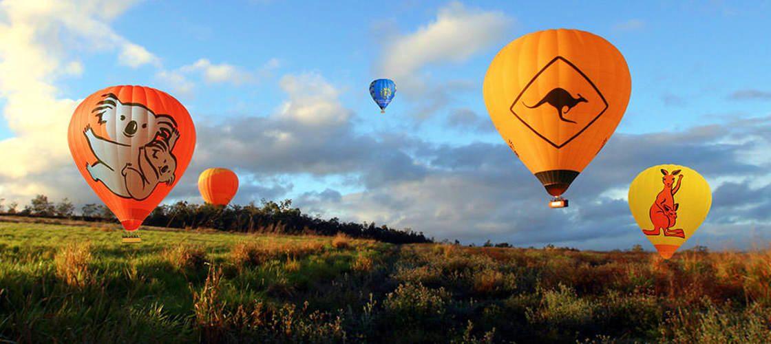 地平線に昇る朝日に感動!熱気球