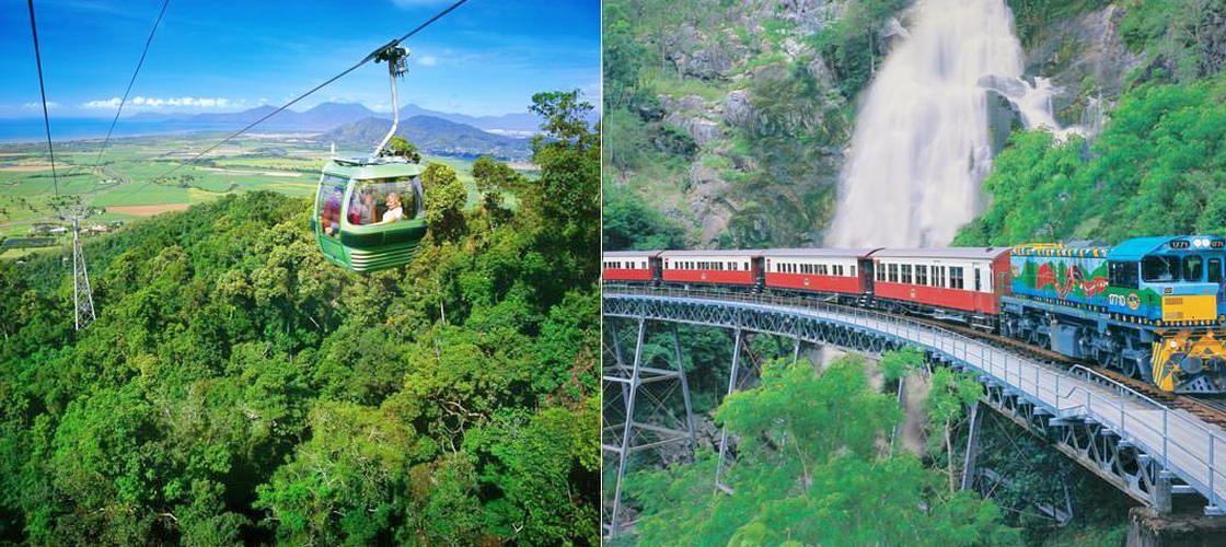 世界遺産の熱帯雨林を駆け抜ける!キュランダ鉄道&スカイレール