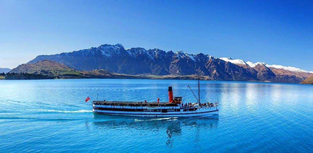 美しい湖を蒸気船でクルーズ「TSSアーンスロー号ワカティプ湖クルーズ」