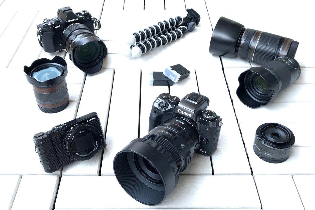 場所・目的に応じて複数のカメラを使い分ける