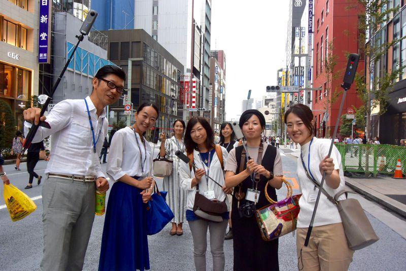 LINEトラベルjp RICOH THETA部発足!ナビゲーターが360度カメラで東京を撮影してみた