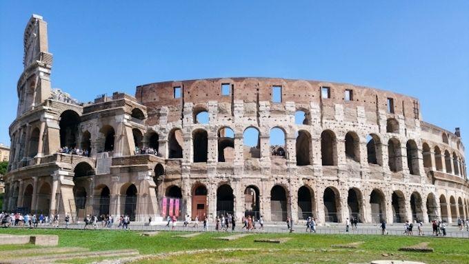 ローマまでの飛行時間