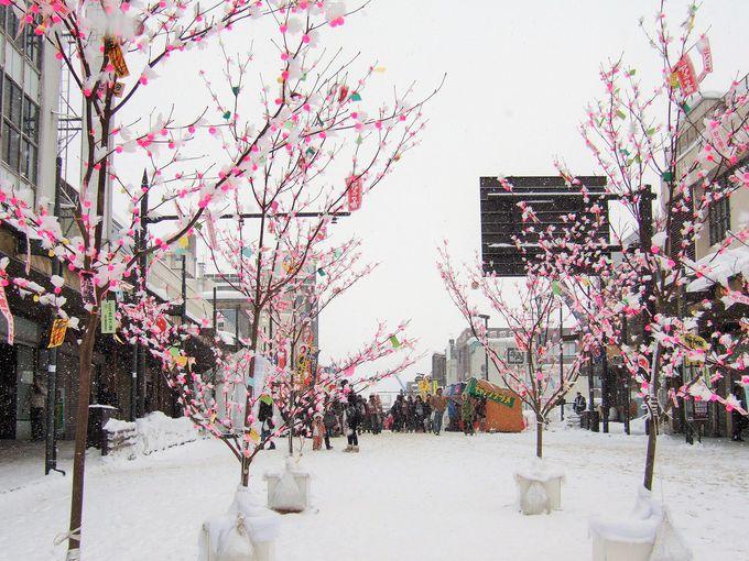 冬の秋田、枯れ木に甘い花が咲く...